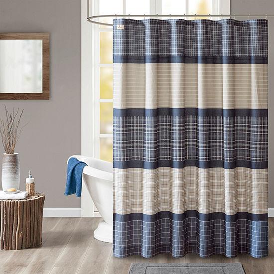 Woolrich Flagship Cotton Printed Plaid Shower Curtain