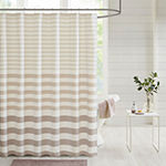 Madison Park Donna Stripe Blended Yarn Dyed Shower Curtain