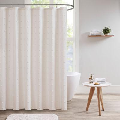 Urban Habitat Maize Cotton Yarn Dyed Jacquard Shower Curtain