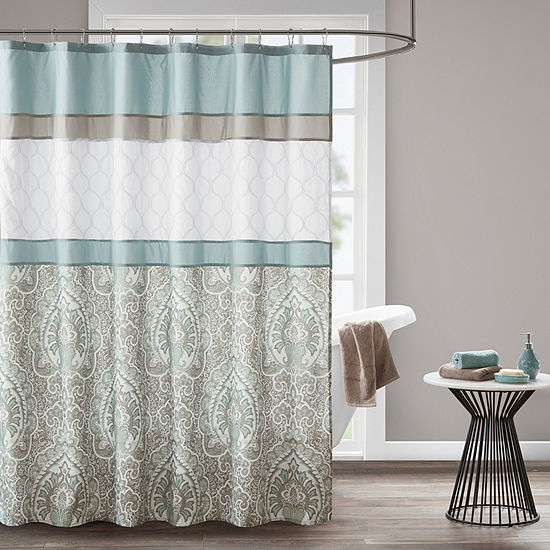 510 Design Josefina Printed And Embroidered Shower Curtain