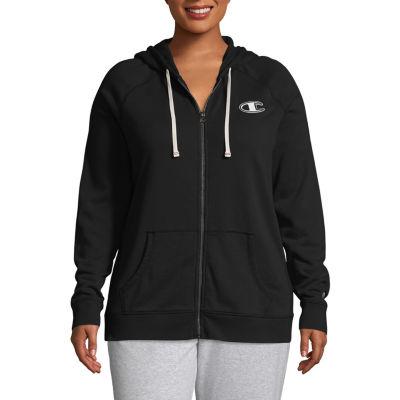 Champion Women's Long Sleeve Full Zip Hoodie - Plus