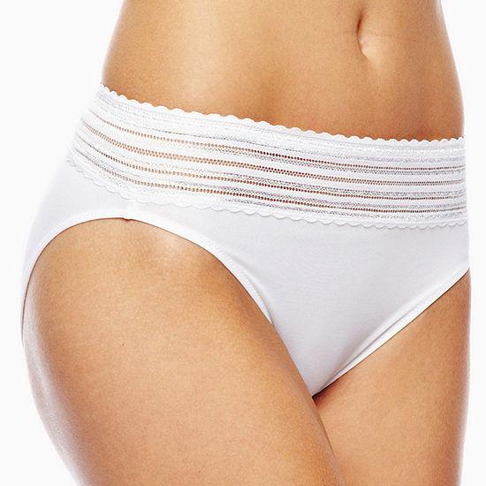 Warner's No Pinching. No Problems.® High-Cut Lace-Trim Panty 5109