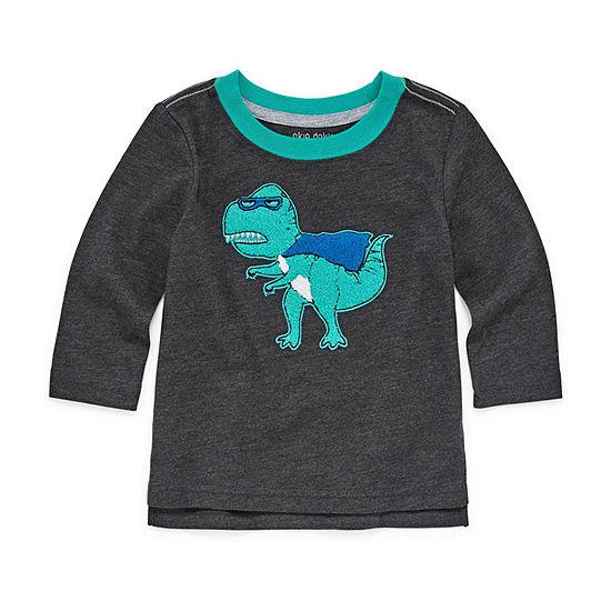Okie Dokie Boys Long Sleeve Graphic T-Shirt - Baby