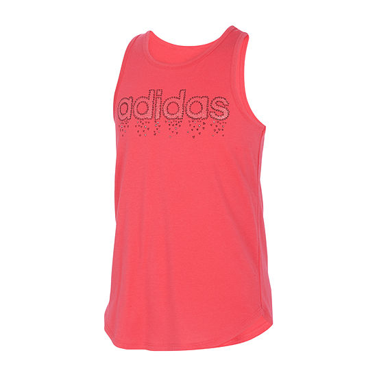 adidas Big Girls Round Neck Tank Top