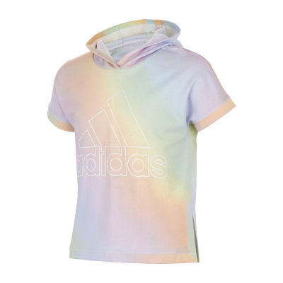 adidas-Big Kid Girls Short Sleeve T-Shirt