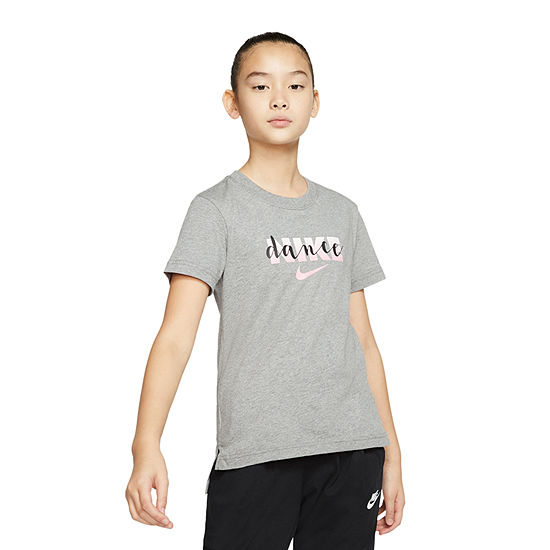 Nike Big Girls Crew Neck Short Sleeve Graphic T-Shirt
