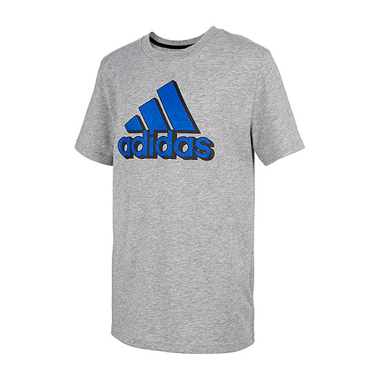adidas - Little Kid Boys Round Neck Short Sleeve Graphic T-Shirt