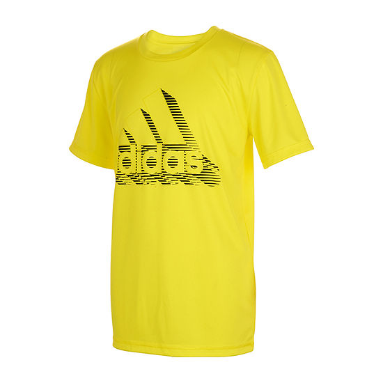adidas Little Boys Round Neck Short Sleeve Graphic T-Shirt