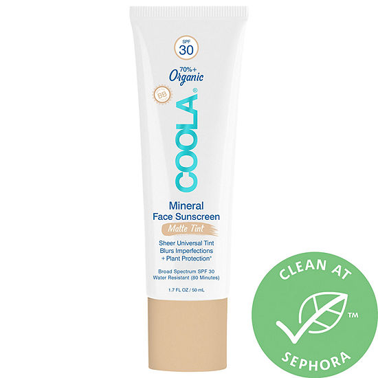COOLA Mineral Face Organic Matte Tint Sunscreen Lotion SPF 30