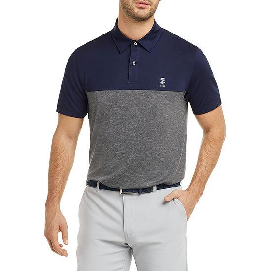 IZOD Mens Golf Qualifier Colorblock Short Sleeve Polo