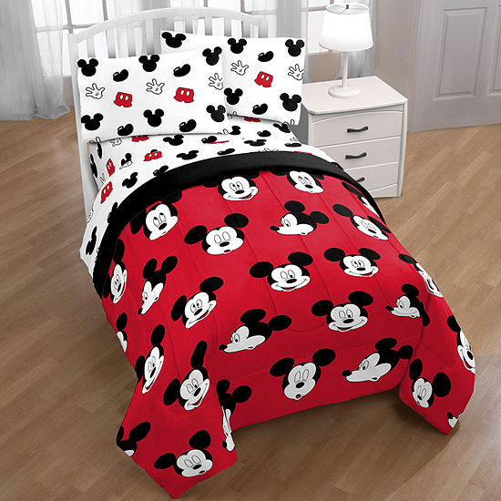 Disney Mickey Mouse Faces Reversible Comforter