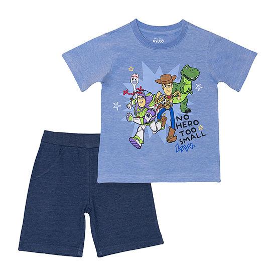 Disney Toddler Boys 2-pc. Toy Story Short Set