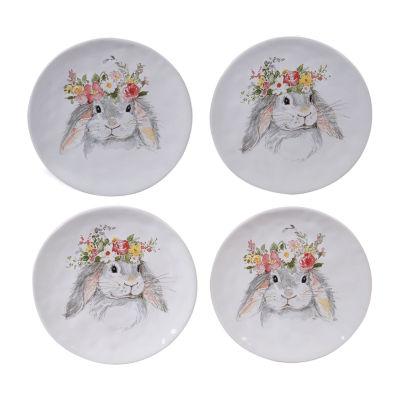 Certified International Sweet Bunny 4-pc. Dessert Plate