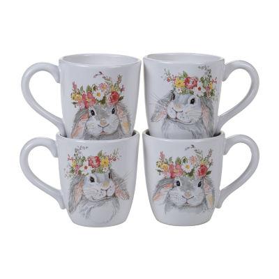 Certified International Sweet Bunny 4-pc. Coffee Mug
