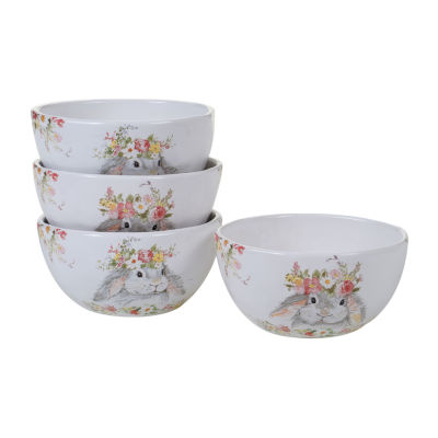 Certified International Sweet Bunny 4-pc. Ice Cream Bowl