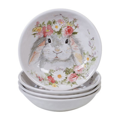 Certified International Sweet Bunny 4-pc. Soup Bowl