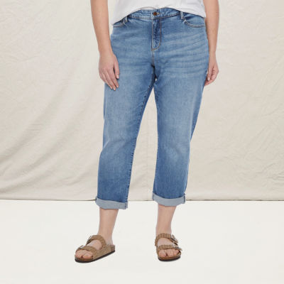 a.n.a - Plus Womens Boyfriend Jean