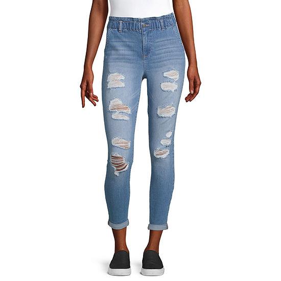 Blue Spice - Juniors Womens High Rise Skinny Fit Jean