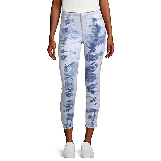 Blue Spice-Juniors Womens High Rise Skinny Fit Ankle Pant