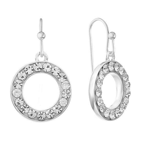 Liz Claiborne Pavé Round Drop Earrings