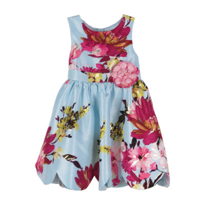 Lilt Girls Sleeveless Floral A-Line Dress - Baby