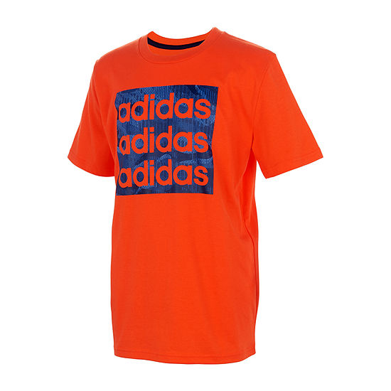 adidas-Toddler Boys Crew Neck Short Sleeve Graphic T-Shirt