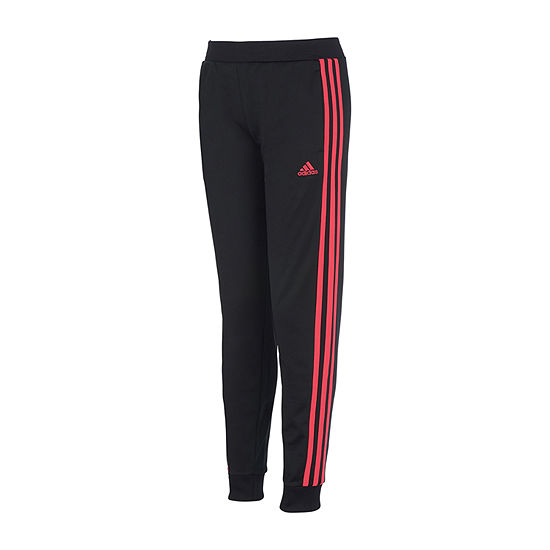 adidas Little Girls Mid Rise Cuffed Jogger Pant