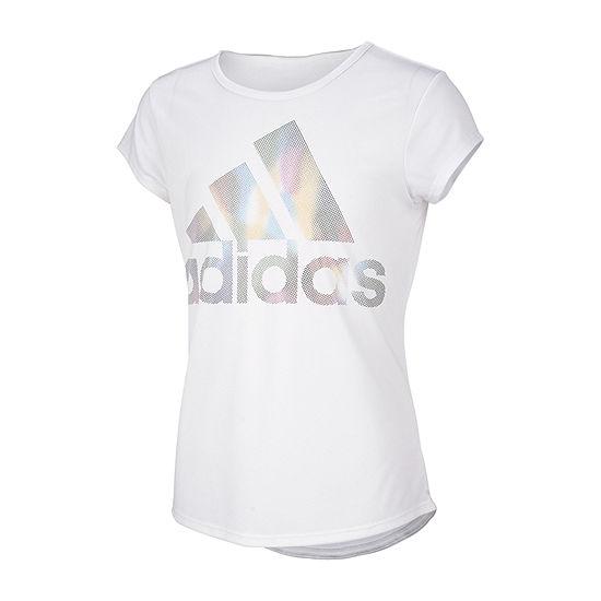adidas - Little Kid Girls Round Neck Short Sleeve Graphic T-Shirt