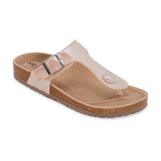 Arizona Fable Womens T-Strap Footbed Sandals