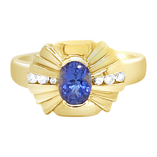 LIMITED QUANTITIES! Le Vian Grand Sample Sale™ Sale Ring featuring 1 CT. T.W. Blueberry Tanzanite® 1/6 CT. T.W. set in 14K Honey Gold™