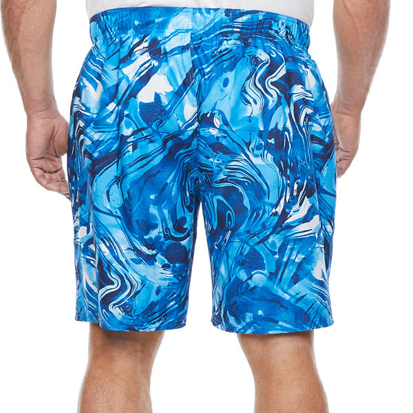 Peyton & Parker Mens Waves Swim Trunks Big and Tall