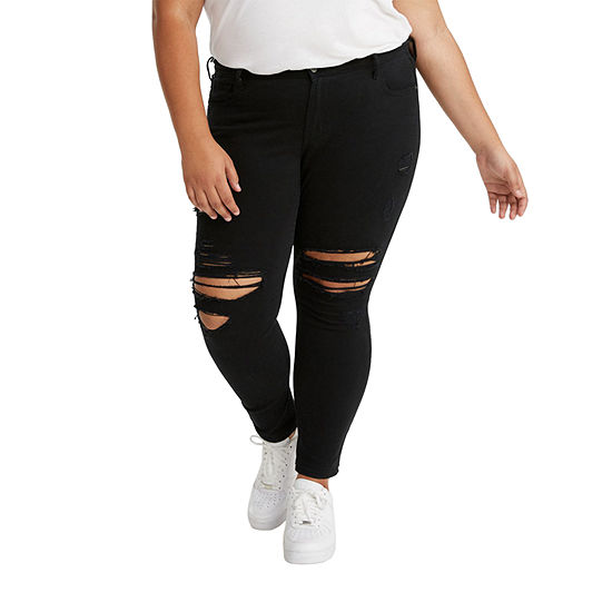 Levi's - Plus Womens Mid Rise 711 Skinny Fit Jean
