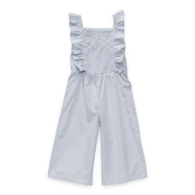 Okie Dokie Toddler Girls Sleeveless Embroidered Jumpsuit