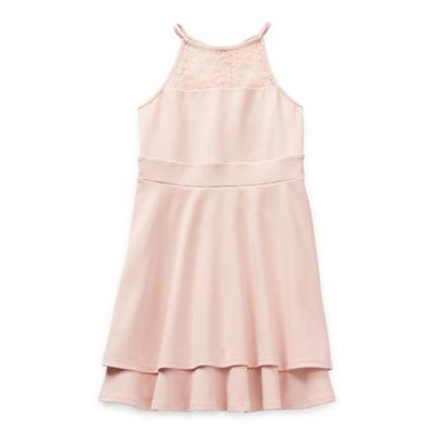 Emerald Sundae Big Girls Sleeveless Fit & Flare Dress