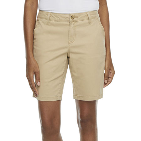 "a.n.a Womens 9"" Chino Bermuda Short, 6 , Yellow"