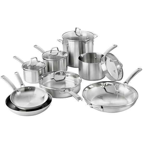 Calphalon Classic 14 Pc Stainless Steel Cookware Set Jcpenney