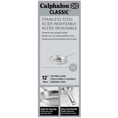 "Calphalon® Classic 12"" Stainless Steel Omelette Pan with Lid"
