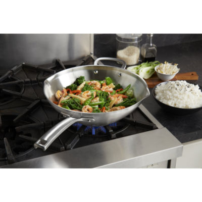 "Calphalon® Classic 12"" Stainless Steel Stir-Fry Pan"