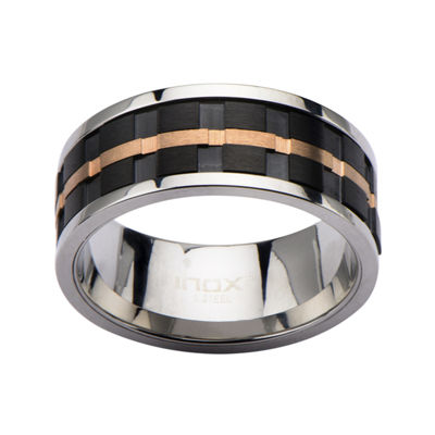Mens Tri-Tone Stainless Steel Band