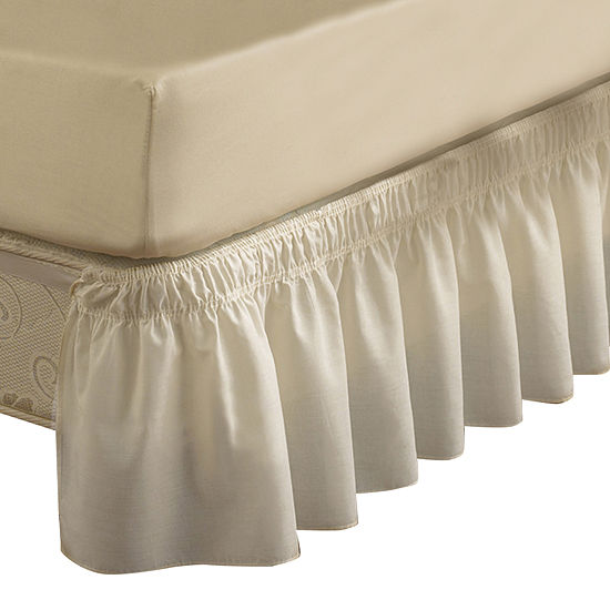 Easyfit Wrap Around Solid Ruffled Bedskirt