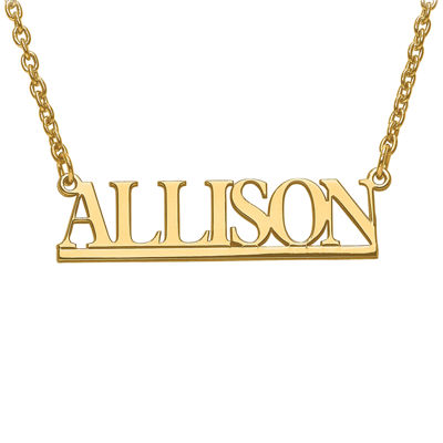 Personalized 9x34mm Underlined Name Necklace