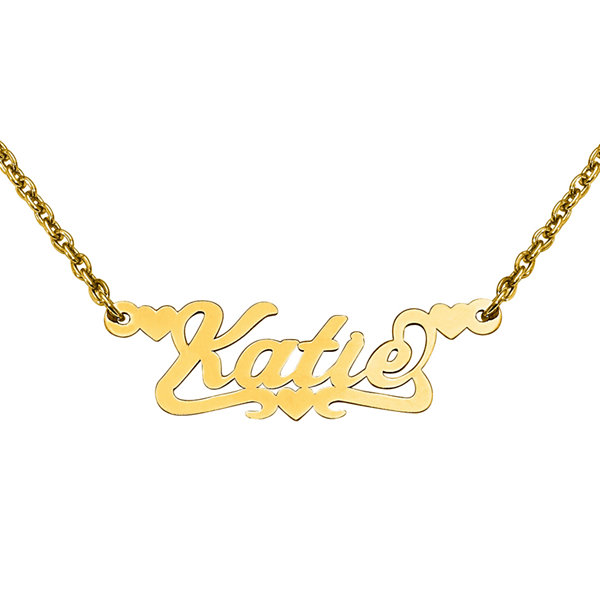 Personalized 12x37mm Scroll Name Necklace