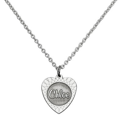 Personalized Heart Name Pendant Necklace