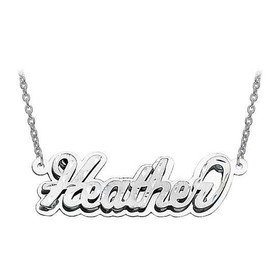 Personalized Diamond-Cut 3D Name Necklace
