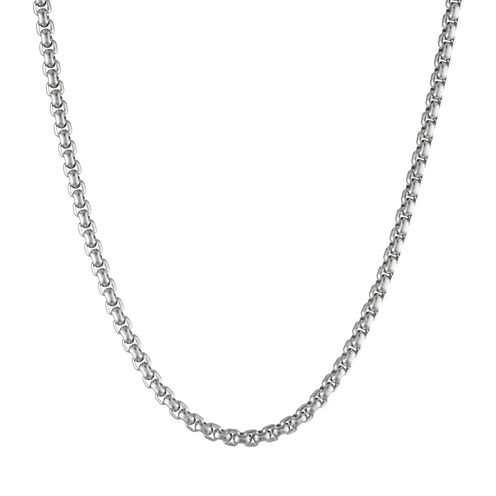 "Mens Stainless Steel 22"" Box Chain Necklace"
