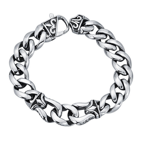 Mens Stainless Steel Chain Link Bracelet