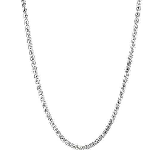 """Mens Stainless Steel 20"""" Wheat Chain Necklace"""
