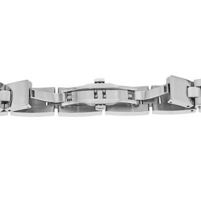 Mens 1/10 CT. T.W. Diamond Stainless Steel Link Bracelet