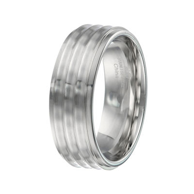 Mens Stainless Steel Textured Band