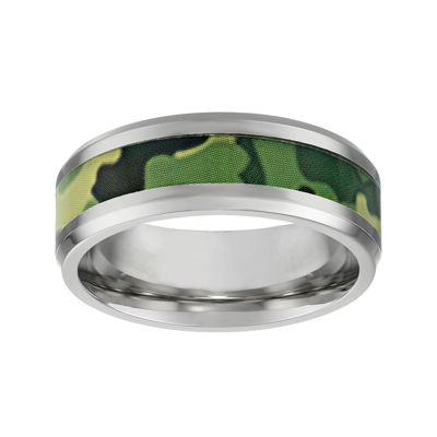 Mens Stainless Steel Band with Camouflage